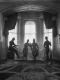 Sculptures by Elie Nadelman Standing Around the Parlor of the Deceased Artist's Home Premium Photographic Print by W. Eugene Smith