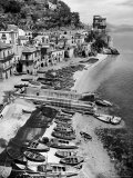 Picturesque Fishing Village on the Sorrento Peninsula Above Amalfi Premium Photographic Print by Alfred Eisenstaedt