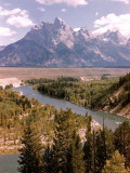 Snake River with Tetons in Background Premium Photographic Print by Alfred Eisenstaedt