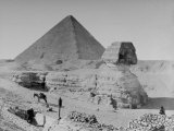 The Sphinx and Pyramid Photographic Print
