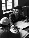 Rabbi Teaching the Talmud, the Basis For Much Jewish Law Premium Photographic Print by Alfred Eisenstaedt