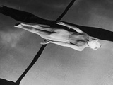 Swimmer Jeanne Wilson Underwater Photographic Print by Wallace Kirkland