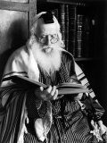 Rabbi Joshua Heshil Holtovski, Leader of the Karlin Chassidic Sect, Praying Premium Photographic Print by Alfred Eisenstaedt