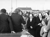 Robert F. Kennedy Meeting Some Nuns on His Campaign Journey Premium Photographic Print by Bill Eppridge
