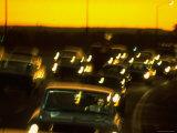 Santa Monica Freeway Traffic at Dusk Photographic Print by Ralph Crane