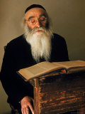 Rabbi Reading the Talmud Premium Photographic Print by Alfred Eisenstaedt