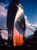 Prow of Texaco Oil Tanker Oklahoma at Sun Shipbuilding and Dry Dock Co. Shipyards Premium-Fotodruck von Dmitri Kessel