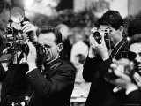 Photographers at Work During the Cannes Film Festival Photographic Print by Paul Schutzer