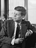 Senator John F. Kennedy Posing For Portrait Premium Photographic Print by Hank Walker