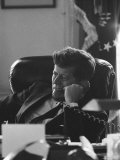 President John F. Kennedy on the Telephone in the Oval Office During the Steel Crisis Premium Photographic Print by Art Rickerby
