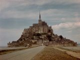 Mont St. Michel Crowned by Abbey Built by Monks in the 13th Century Premium Photographic Print by Eliot Elisofon