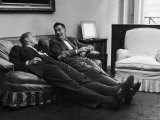 Men Relaxing at Home After Work Premium Photographic Print by Nina Leen