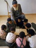 Yemeni Jewish Children Studying the Torah Premium Photographic Print by Alfred Eisenstaedt