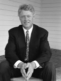 Portrait of President Bill Clinton Papier Photo par Alfred Eisenstaedt