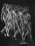Stroboscopic Study of a Nude Descending Staircase Premium Photographic Print by Gjon Mili