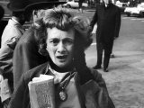 New Yorker Reacting in Shock to News of Assassination of President John F. Kennedy Photographic Print by Stan Wayman