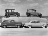 New Ford Cars Arranged to Make Advertising Pictures Premium Photographic Print by William Sumits