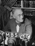 President Franklin D. Roosevelt Speaking on Pre Invasion Fireside Chat Radio Program Photographic Print by Marie Hansen