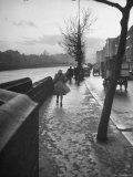 People Walking Through Dublin in the Rain Premium Photographic Print by Tony Linck