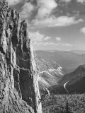 Soldier Repelling Down Rock Face Premium Photographic Print by J. R. Eyerman