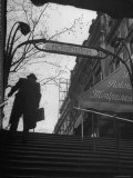 Man Walking Up the Stairs, Exiting the Metro Station Photographic Print by Ed Clark