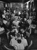 Patrons Enjoying Bar and Lounge at the Stork Club Premium Photographic Print by Alfred Eisenstaedt