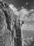 Soldiers Repelling Down Steep Rock Face Premium Photographic Print by J. R. Eyerman