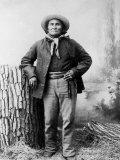 Portrait of Apache Leader Geronimo Reproduction photographique