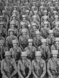 Rows of WACs After Having Put on Their Gas Masks For Training Drill, Fort Des Moines Premium Photographic Print by Marie Hansen