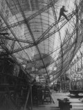 Scene of Construction of Graf Zeppelin at Fabrication Plant Photographic Print