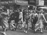 People Moving Through the Streets During Business Hours Photographic Print by Peter Stackpole