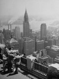 View from Observation Deck at Rockefeller Center Looking Southeast at the Chrysler Building Photographic Print