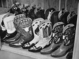 Several Pairs of Cowboy Boots from the 21 Club's Jack Kriendler's Collection Premium Photographic Print by Eric Schaal