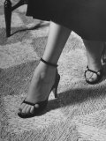 Naked Sandal by Julianelli Has Sparse Velvet Straps That Give It a Barefoot Look Photographic Print by Nina Leen