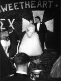 Sigma Chi Sweetheart Ball with Her Date, MIT Student Joel Searcy Premium Photographic Print by Gjon Mili