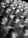 Rayon Yarn on Spools at the Industrial Rayon Corp. Factory Premium Photographic Print by Margaret Bourke-White