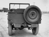 Rear View of Jeep Premium Photographic Print by George Strock