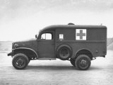Side View of Ambulance Photographic Print by George Strock
