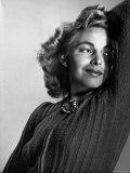 Model Mardee Hoff Wearing New Fall Design Sweater Premium Photographic Print by Gjon Mili