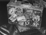 View of Congressman George H. Tinkham's Suitcase After His Trip Premium Photographic Print by David Scherman