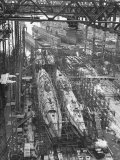 Submarine Assembly Plant at Deschimag Photographic Print by William Vandivert