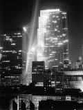 Radio City Shining with Many Bright Lights During the Night Premium Photographic Print by Bernard Hoffman