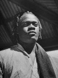 Zulu Native Man Premium Photographic Print by Hart Preston