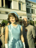 US First Lady Jacqueline Kennedy with Her Host Pm Jawaharlal Nehru in Garden of Pm's Residence Premium Photographic Print by Art Rickerby