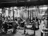 Women Workers in a Bicycle Factory Premium Photographic Print