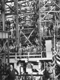"Shipyard Workers Waiting to Launch the ""Bethlehem Fairchild"" Premium Photographic Print by Marie Hansen"