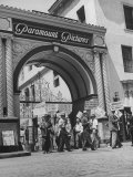 View of Picket Lines in Front of Paramount Studios During a Set Directors Strike Premium Photographic Print by Martha Holmes