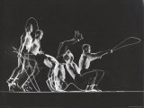 Stroboscopic Image of Rope Skipping Champion Gordon Hathaway Performing Complicated Steps Premium Photographic Print by Gjon Mili