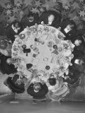 Overhead View of Table During Jefferson Jackson Day Dinner Premium Photographic Print by Francis Miller
