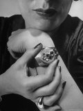 Woman Wearing Micro Camera on Her Wrist Premium Photographic Print by Andreas Feininger
